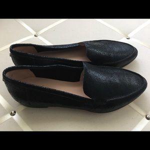 Kate Spade 'Carima' Black Leather Loafer Mismatch